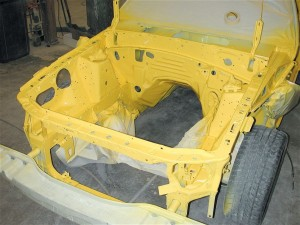 Mustang Paint Job ~ Lemon Yellow Basecoat